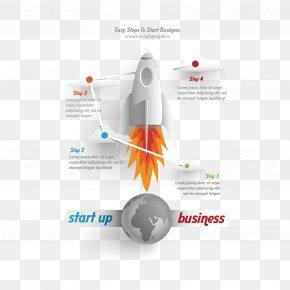 Vector Rocket Information Map - Information Illustration PNG