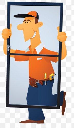 Door And Window Installation Maintenance Specialist - Window Installation Glass Illustration PNG