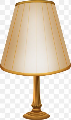 Hand-painted Table Lamp Ornament Material Free To Pull - Lampshade Light Table PNG