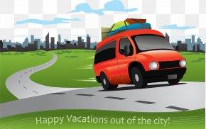 Cartoon Car - Car Road Driving Clip Art PNG