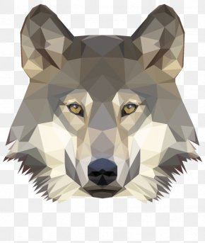 Low Poly - Gray Wolf Low Poly Photography PNG