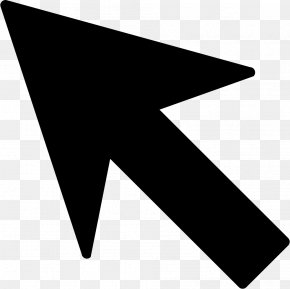 Mouse Cursor - Line Black And White Triangle PNG