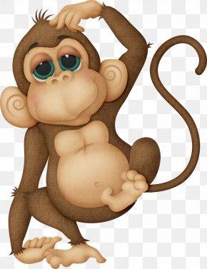 Monkey - Monkey Cuteness Clip Art PNG