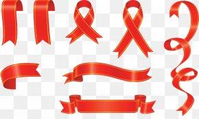 Red Ribbon - Banner Ribbon Clip Art PNG