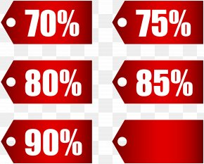 Red Discount Tags Set Part 3 Transparent Image - Discounting Coupon Price Discount Shop PNG