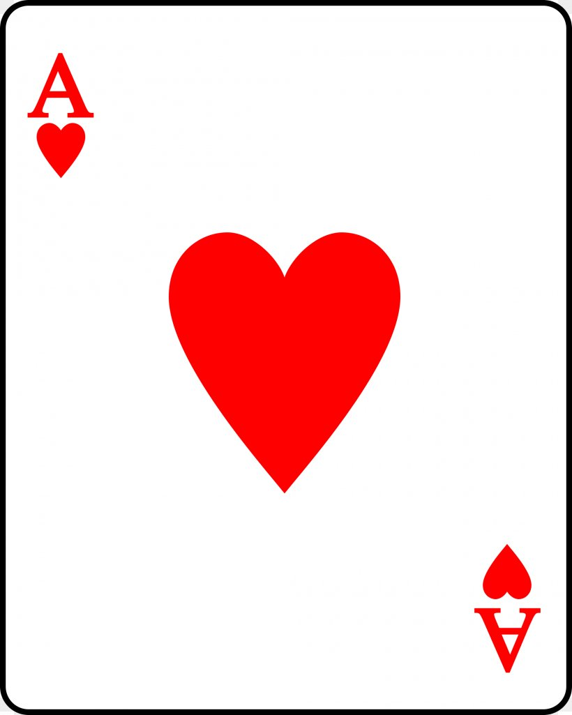 Playing Card Suit Ace Of Hearts, PNG, 2000x2500px, Playing Card, Ace, Ace Of Hearts, Area, Card Game Download Free