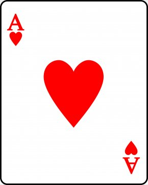 Heart Playing Cards - Playing Card Suit Ace Of Hearts PNG