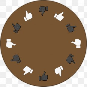 Round Table - Thumb Signal Emoticon Symbol Clip Art PNG