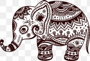 Elephant - Sticker Wall Decal Elephant Polyvinyl Chloride PNG