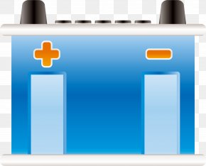 Blue Battery - Battery Charger Car Rechargeable Battery PNG