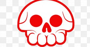 Red Skull Print - Red Logo Desktop Wallpaper Color PNG