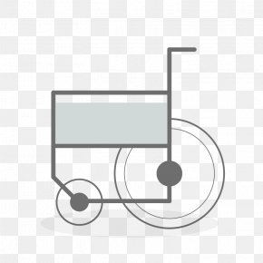 Vector Wheelchair - Hospital Patient PNG