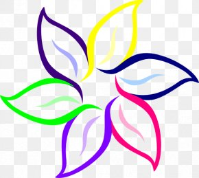 Colorful Flowers HD - Flower Black And White Drawing Clip Art PNG