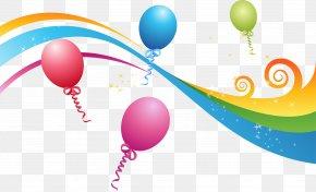 Party Ribbon - Balloon Euclidean Vector Party PNG