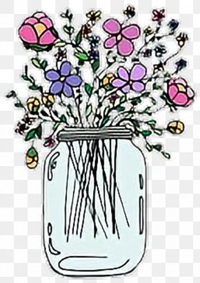 Drinkware Bouquet - Bouquet Of Flowers Drawing PNG