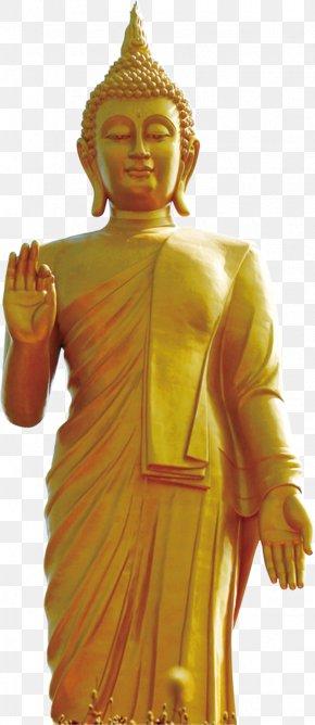 Golden Buddha - Golden Buddha Grand Buddha At Ling Shan Gautama Buddha Standing Buddha Daibutsu PNG
