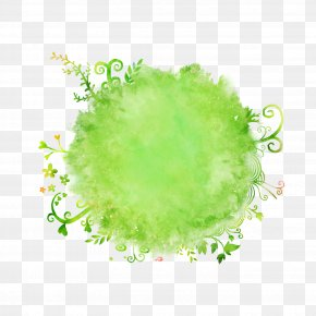 Background Circle - Watercolor Painting Brush PNG