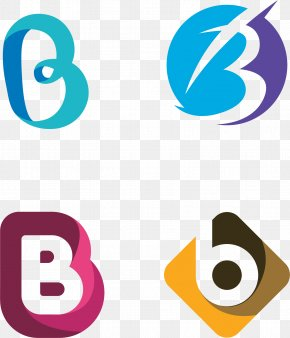 Vector Hand-painted B Alphabet Tags - Brand Logo Clip Art PNG