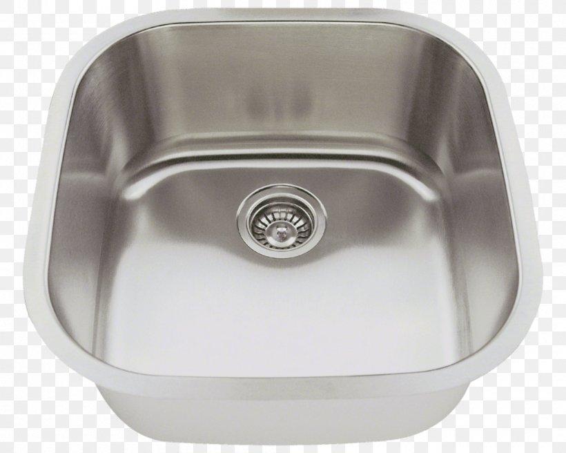 Kitchen Sink Stainless Steel Brushed Metal Tap, PNG, 1000x800px, Sink, Bathroom Sink, Bowl, Bowl Sink, Brushed Metal Download Free