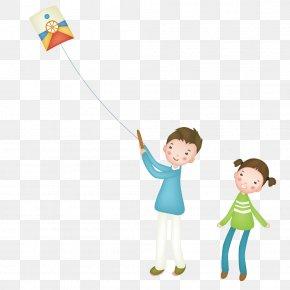 Kite Flying Men And Women - Kite Child Illustration PNG