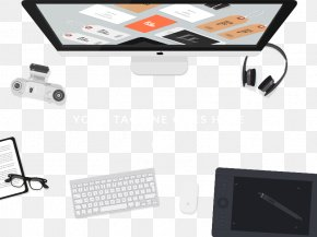 Headphones, And Other Flat-panel Computer Keyboard - Computer Keyboard Desktop Computer PNG
