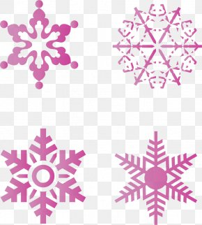 Pink Winter Sky Snow Snowflake Vector Material - Euclidean Vector Snowflake Adobe Illustrator PNG