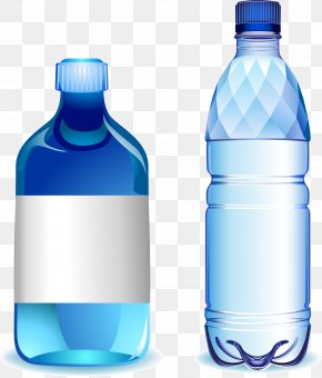 Blue Water Bottle - Water Bottle Plastic PNG