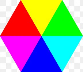 Colors - Hexagon Triangle Shape Clip Art PNG