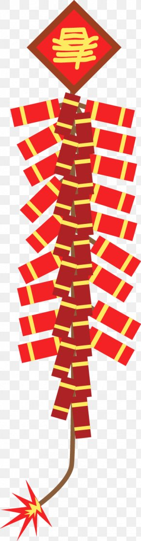 Vector Chinese New Year Firecrackers - Firecracker Chinese New Year Clip Art PNG