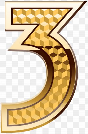Gold Number Three Clip Art Image - Aaron Doral Number Four Clip Art PNG