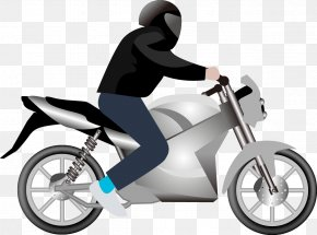 Vector Man On A Motorbike - Car Motorcycle Clip Art PNG