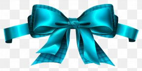 Blue Checkered Bow Clipart Picture - Ribbon Clip Art PNG
