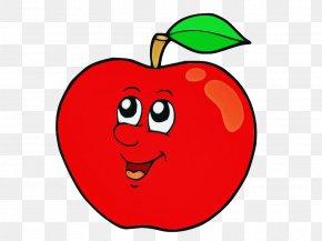 Smile Leaf - Apple Fruit Red Cartoon Bell Pepper PNG
