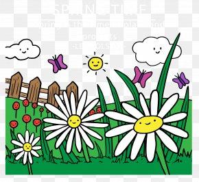 Smiling Grass - Floral Design Landscape Download PNG