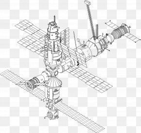Space Station - International Space Station Mir Drawing Spacecraft PNG