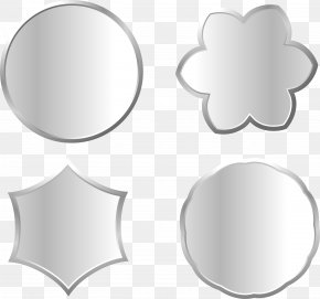 Metal Silver Different Shape Signs - Metal Silver Download PNG
