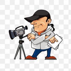 Photographers - Film Director Cartoon Illustration PNG