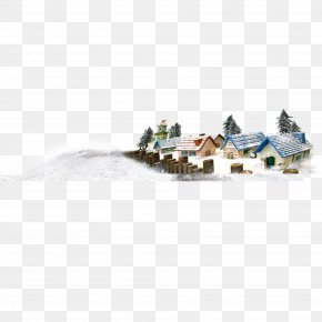 Snow Village - U6751u5e84 Snow Computer File PNG
