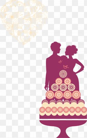 Silhouette Couple - Wedding Invitation Marriage PNG