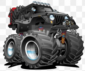 Jeep - Jeep Wrangler Cartoon Off-roading PNG