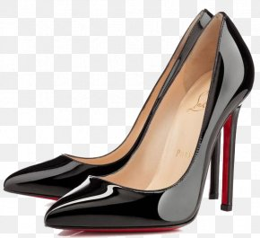 Black Smooth Surface High-heeled Shoes - Quartier Pigalle Court Shoe High-heeled Footwear Patent Leather PNG