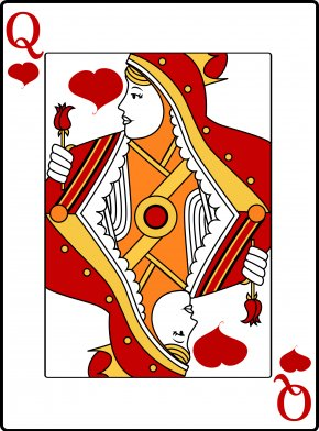 Cards - Queen Of Hearts Playing Card Clip Art PNG