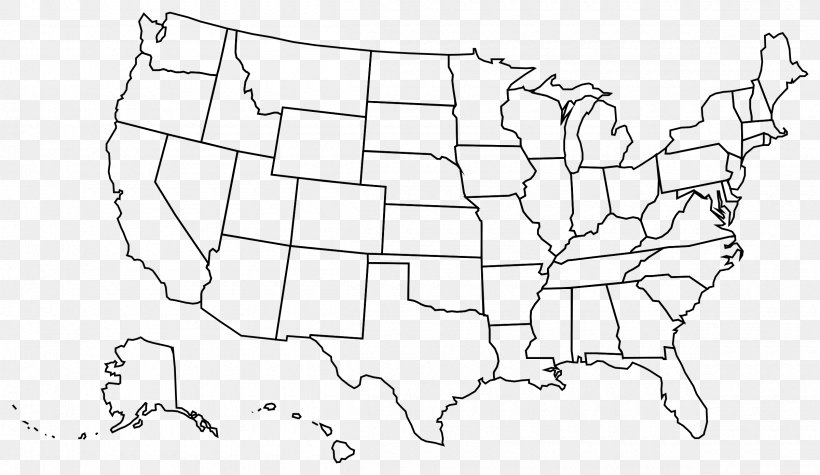United States Blank Map U.S. State Clip Art, PNG ...