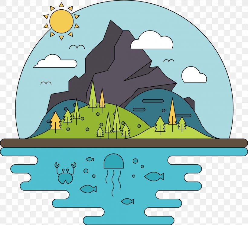 Island Mountain Clip Art