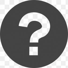 Question Mark - Grayscale Icon PNG