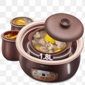 Multi-function Rice Cooker - Congee Edible Birds Nest Simmering Clay Pot Cooking Stock Pot PNG