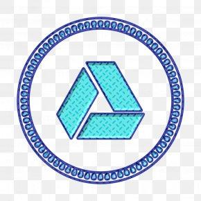 Triangle Electric Blue - Data Safe Icon Design Icon Drive Icon PNG