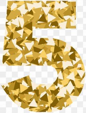 Mosaic Style Number Five Clip Art Image - Geometry Geometric Shape Clip Art PNG