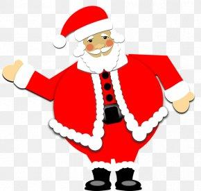 Cartoon Santa Claus - Santa Claus Reindeer Christmas Clip Art PNG
