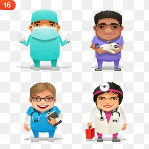 4 HD Free Health Care Cartoon Clip Buckle - Cartoon Physician Royalty-free Illustration PNG